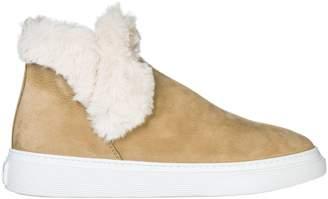 Hogan Slip On Fur Lined Boots