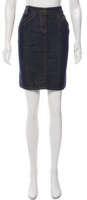 RED Valentino Denim Knee-Length Skirt