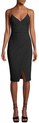 Black Halo Bowery Sleeveless Sheath Dress w/ Side Ruching
