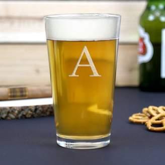 Monogram Online Customized Initial Beer Pint Glass, 16 oz