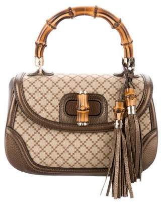 2907ffe4c1f8 Pre-Owned at TheRealReal · Gucci Diamante New Bamboo Top Handle Bag