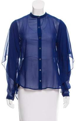 Robert Rodriguez Silk Button-Up Top w/ Tags