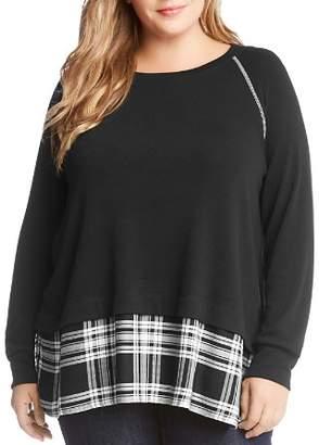 Karen Kane Plus Layered-Look Sweatshirt