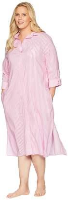 Lauren Ralph Lauren Plus Size Long Sleeve Roll Cuff Ballet Sleepshirt Women's Pajama