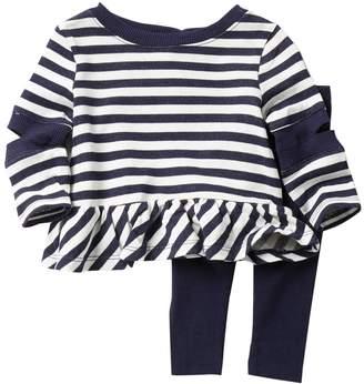 Splendid Striped Cutout Tunic 2-Piece Set (Baby Girls)