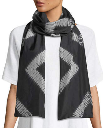 Eileen Fisher Shibori Silk Diamonds Scarf