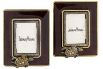Jay Strongwater Pair of Embellished Turtle Frames gold Pair of Embellished Turtle Frames