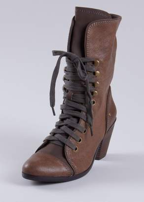 f23ea632fa Steve Madden P-Taken Lace Up Heeled Boot