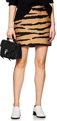 Proenza Schouler Women's Tiger-Pattern Wool-Silk Miniskirt - Camel