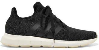 adidas Swift Run Metallic Primeknit Sneakers - Black