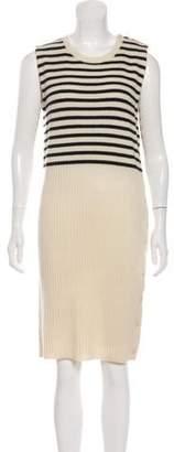 MM6 MAISON MARGIELA Wool Knee-Length Sweater Dress