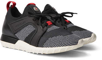 Moncler Emilien Leather And Rubber-Trimmed Mesh Sneakers