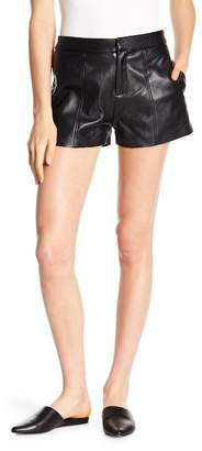 Frame Culotte Lamb Leather Shorts