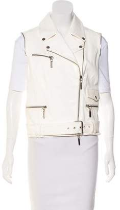Thomas Wylde Leather Biker Vest