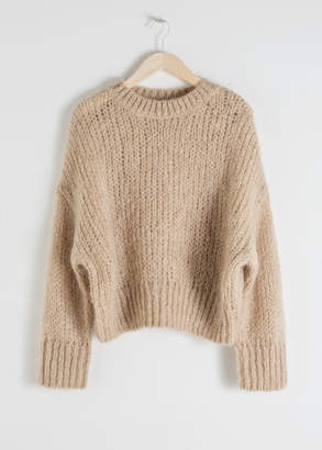And other stories Wool Blend Chunky Knit Sweater