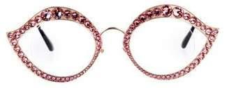 Gucci 2017 Crystal-Embellished Eyeglasses