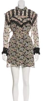 Anna Sui Floral Print Mini Dress w/ Tags