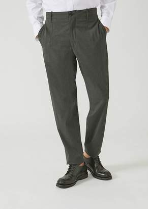 Emporio Armani Trousers In Stretch Tech Twill