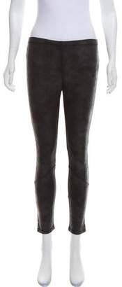 Pam & Gela Stud-Embellished Mid-Rise Leggings