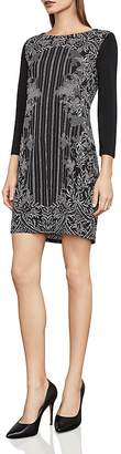BCBGMAXAZRIA Noely Printed Jersey Tunic Dress