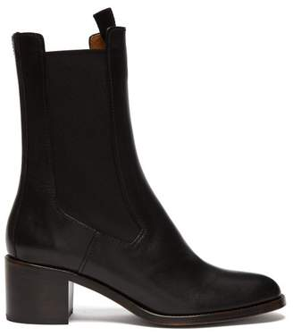 c7c5f06afd0 A.P.C. Nicole Leather Chelsea Boots - Womens - Black