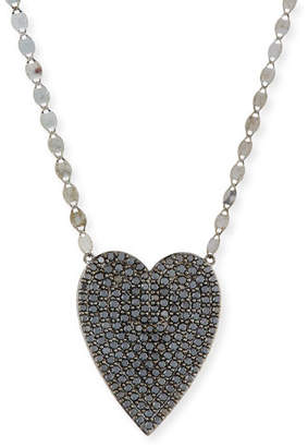 Lana 14k Reckless Black Diamond Heart Necklace