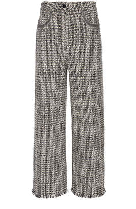 Etro Dorset High-Rise Cotton-Blend Cropped Pants