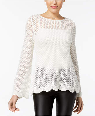 Style&Co. Style & Co Crocheted Sweater, Created for Macy's