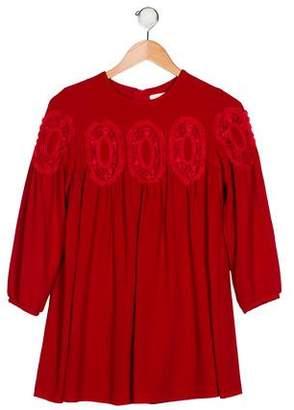Chloé Girls' Long Sleeves Lace Dress