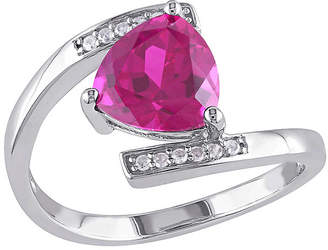 FINE JEWELRY Lab-Created Ruby and Diamond-Accent Sterling Silver Bypass Ring