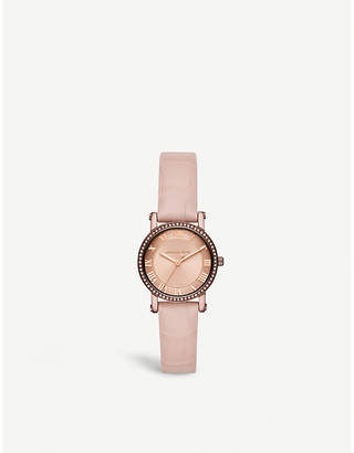 Michael Kors MK2723 Norie rose gold-toned stainless steel and leather watch