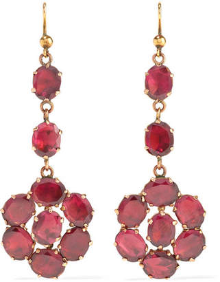 Fred Leighton - 1880s 9-karat Rose Gold Garnet Earrings