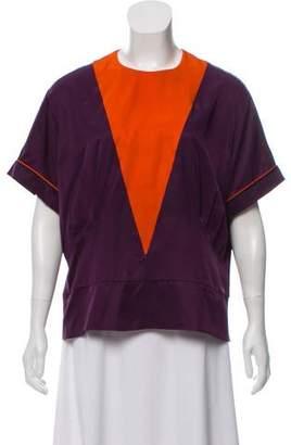 Rochas Silk Short Sleeve Top