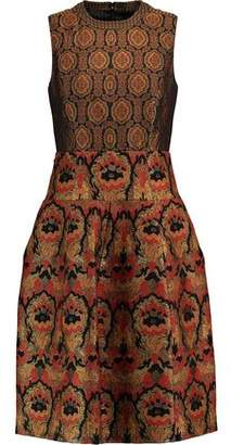 Etro Woman Paneled Faille And Jacquard Dress Gold Size 38 Etro Clearance Best Place Cheap Sale Cost Db0RKp