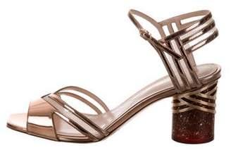 Nicholas Kirkwood Zaha Patent Leather Sandals w/ Tags