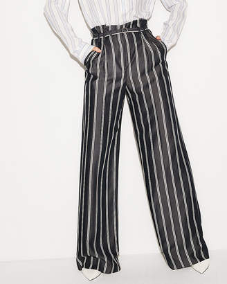 Express Petite High Waisted Belted Wide Leg Pant