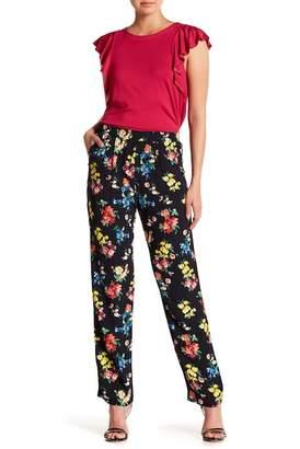 Karen Kane Floral Drawstring Pants