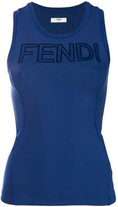 Fendi logo tank top