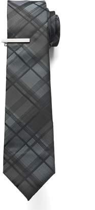 Apt. 9 Men's Skinny Tie with Tie Bar
