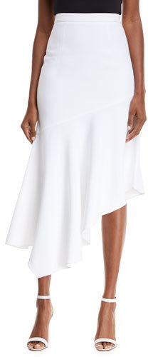 Michael Kors Collection Asymmetrical Crepe Midi Skirt