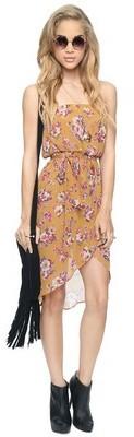 Forever 21 Floral Blouson Dress  Belt