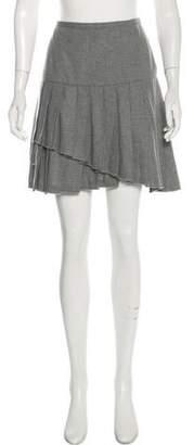 Ermanno Scervino Wool Pleated Mini Skirt