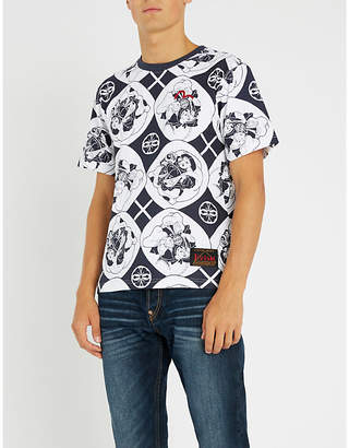 Evisu Godhead-print cotton-jerey T-shirt