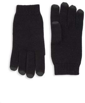 Saks Fifth Avenue COLLECTION Leather Tech Cashmere Gloves