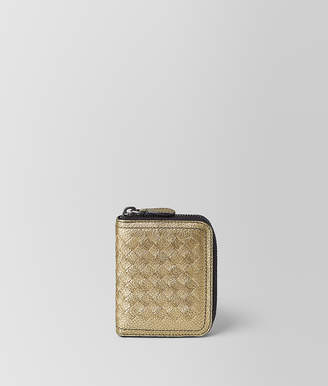 Bottega Veneta COIN PURSE IN METALLIC CALF
