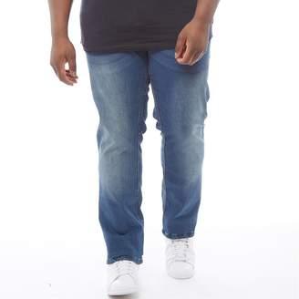 French Connection Mens Plus Size Slim Denim Jeans Stonewash