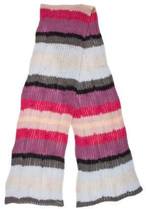 Missoni Striped Cable Knit Scarf