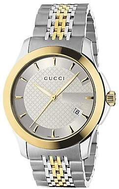 Gucci Men's G-Timeless Collection Watch/Stainless Steel & Gold PVD