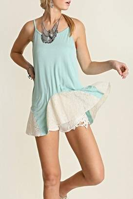 Umgee USA Mint Lace Tank