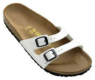 Birkenstock Patent Double Strap Adjustable Sandals $44.78 thestylecure.com